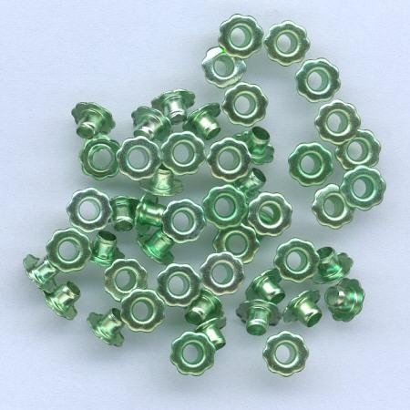 H&C: eyelet; Flower 6 mm, 50 stuks green