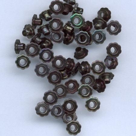 H&C: eyelet; Flower 6 mm, 50 stuks black