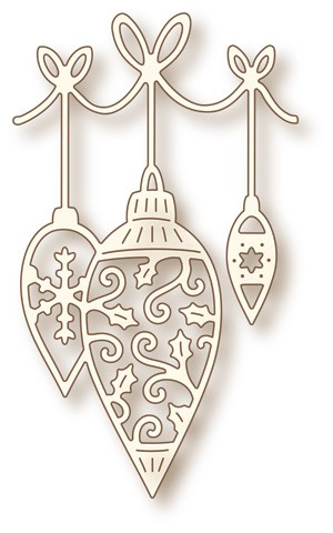 Wild Rose Studio`s: Speciality Die; Hanging Baubles