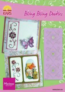 MD: Bling Bling Doodles stencil; triple flower
