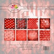 Dixi Paper Pack 15x15; STARS Red