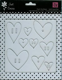 Just Corina: Acryl clear shapes; hearts