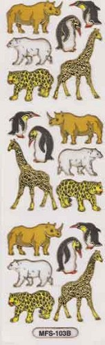 TH: Sticker 55 x 175 mm; Wilde dieren