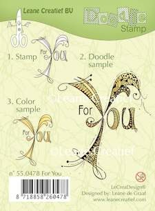 Leane: Doodle Stamp; For You