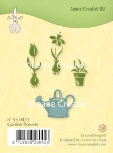 Leane: Clear Stamp; Garden Flowers