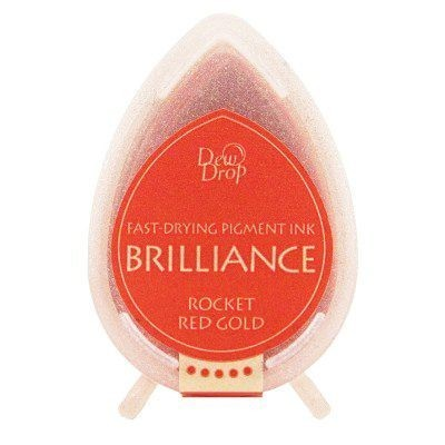Dew Drop Brilliance: ROCKET RED GOLD