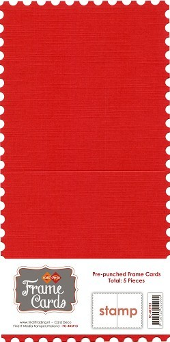 Frame Cards: 5 pcs Stamp; Rood