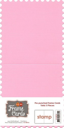 Frame Cards: 5 pcs Stamp; Roze