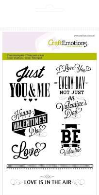 CraftEmotions: Clearstamp A6; Text Valentine
