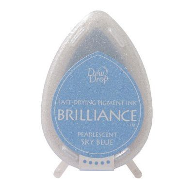 Dew Drop Brilliance: PEARLESCENT SKY BLUE