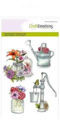 CraftEmotions: Clearstamp A6; Botanical Summer, Pomp - Gieter