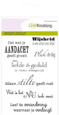 CraftEmotions: Clearstamp A6; Spirituele teksten (NL)