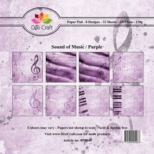 Dixi: Paperpack 15 x 15; Sound of Music, Purple
