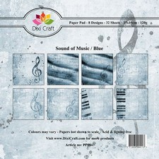 Dixi: Paperpack 15 x 15; Sound of Music, Blue
