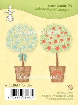Leane: Clear stamp; Pot Plant