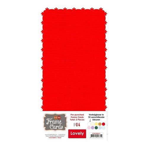 Frame Cards Vierkant: Lovely; Rood