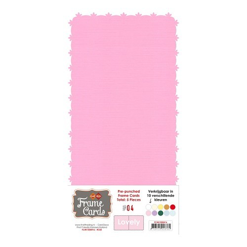 Frame Cards Vierkant: Lovely; Roze