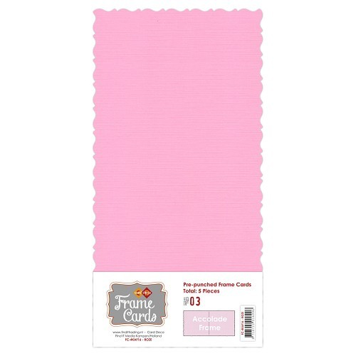Frame Cards Vierkant: Accolade; Roze