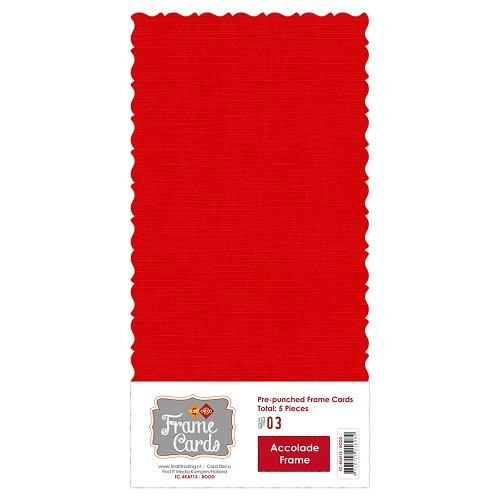 Frame Cards Vierkant: Accolade; Rood
