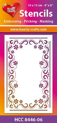 Hearty Crafts Stencil: Bloemen