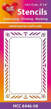 Hearty Crafts Stencil: Elegante rand