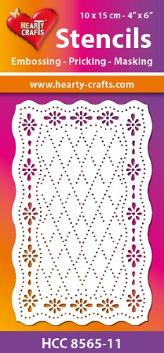 Hearty Crafts Stencil: Retro ruitjes