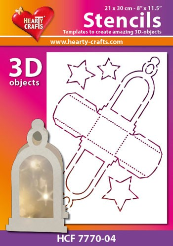 Hearty Crafts DESIGN Stencil: 3D Lantaarn