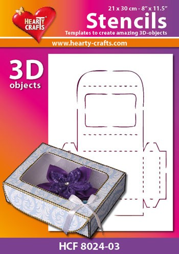 Hearty Crafts DESIGN Stencil: 3D Sieradenbox