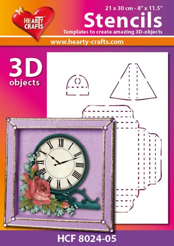 Hearty Crafts DESIGN Stencil: 3D Lijst