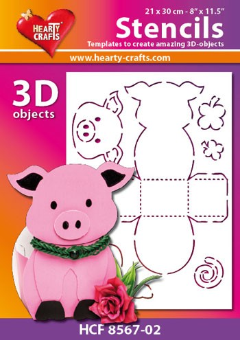 Hearty Crafts DESIGN Stencil: 3D Varken