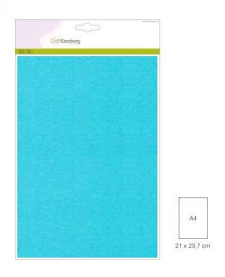 CraftEmotions: 10 vel double sided parelmoerkarton; AQUA
