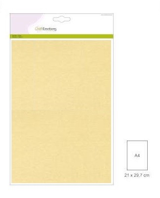 CraftEmotions: 10 vel double sided parelmoerkarton; ZAND
