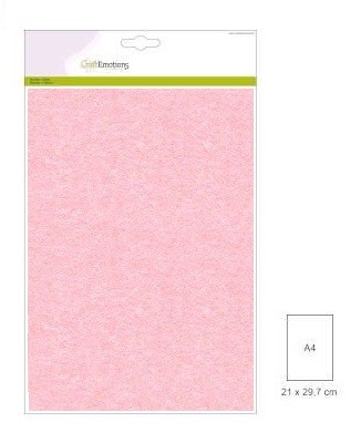 CraftEmotions: 10 vel double sided parelmoerkarton; BABYROZE