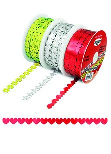 Meyco: 5 meter Paillettenband; Hart, ROOD