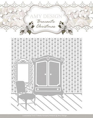 Amy Design: Brocante Christmas; Embossingmal