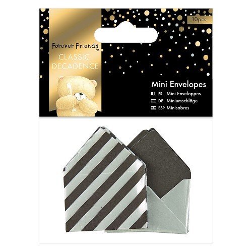 Forever Friends: Classic Decadence; 10 x Mini Envelopes, Silver