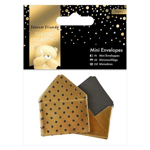 Forever Friends: Classic Decadence; 10 x Mini Envelopes Gold