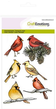 CE: Clear Stamp; Cardinal Birds
