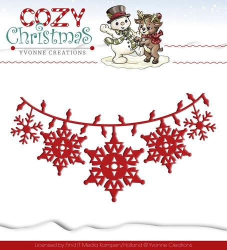 Yvonne Creations: Cozy Christmas; Die; Christmas Lights