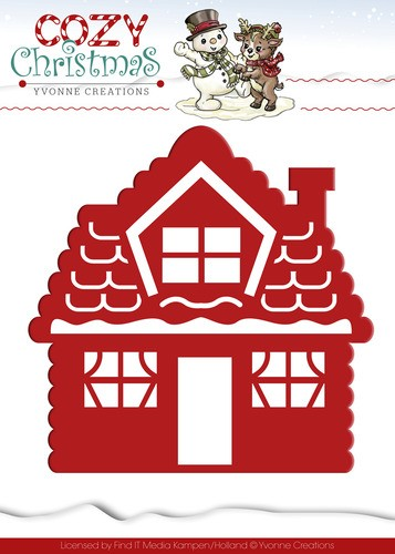 Yvonne Creations: Cozy Christmas; Die; Gingerbread House
