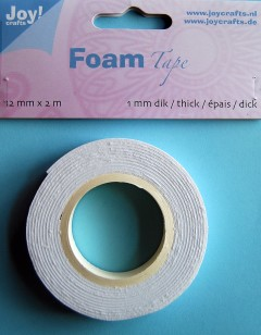 Joy Foamtape 12 mm x 2 meter: 1 mm dik