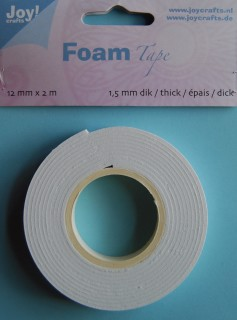 Joy Foamtape 12 mm x 2 meter: 1,5 mm dik