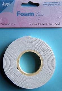 Joy Foamtape 12 mm x 2 meter: 2 mm dik
