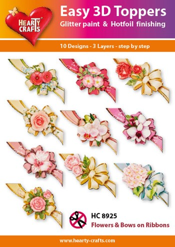 HC: Easy 3D; Flower and Bows on Ribbons