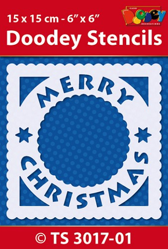 Doodey: Stencil 15x15; Merry Christmas