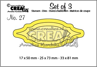 Crealies: Set of 3; Labels 1