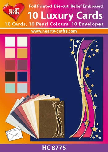 Hearty Crafts: Set of 10 Luxury Cards; Luna
