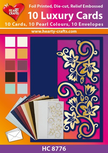Hearty Crafts: Set of 10 Luxury Cards; Marlene