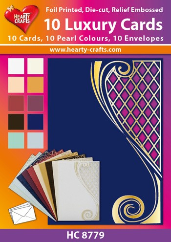 Hearty Crafts: Set of 10 Luxury Cards; Lena