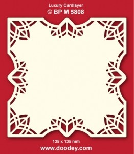 Doodey Luxury Card Layers 125 x 125 mm; 3 pcs, ivory